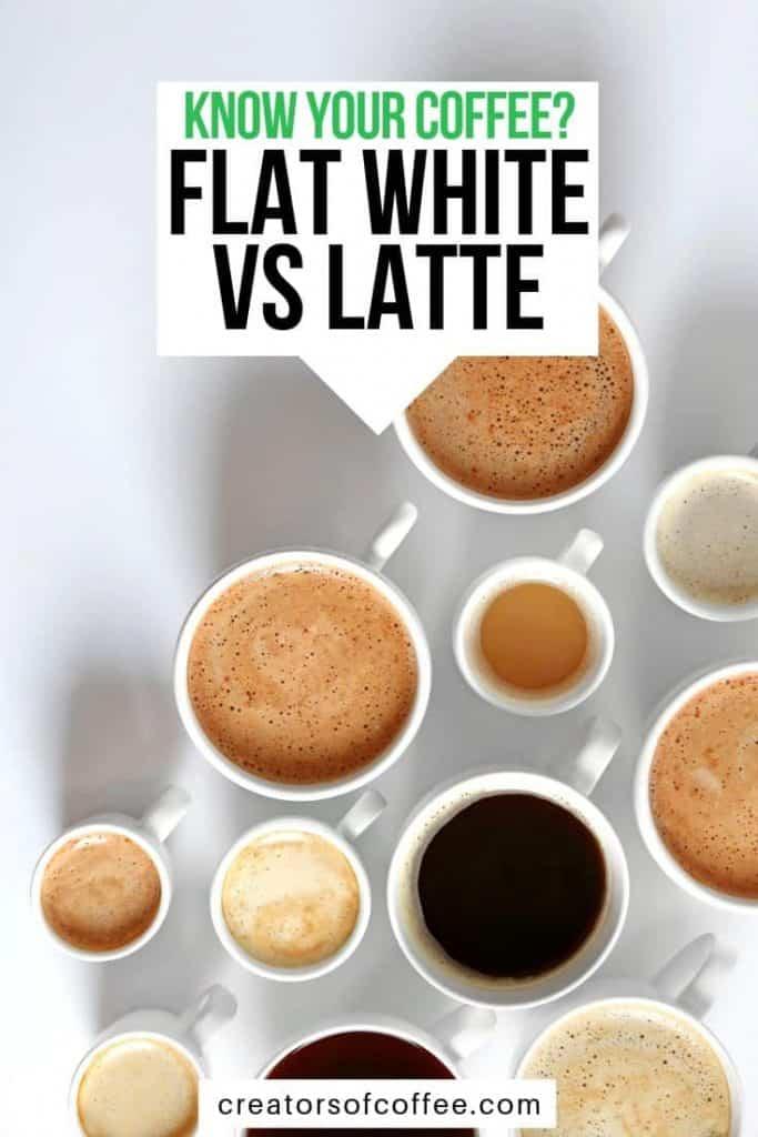 latte vs flat white coffee drinks
