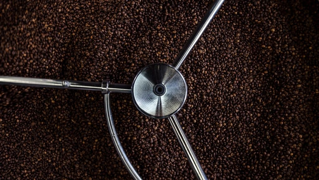 Low acidity Coffee Beans in Roaster