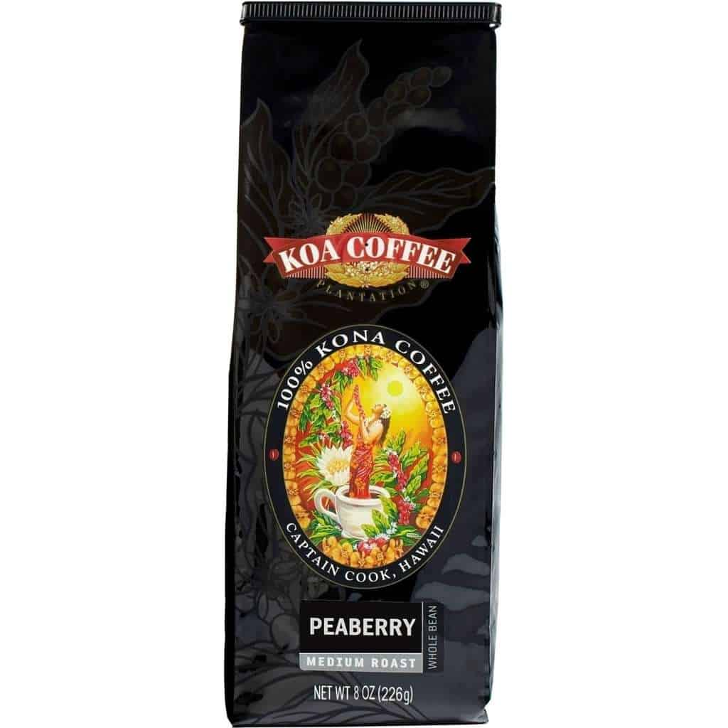 Koa Coffee Peaberry Kona Coffee Beans