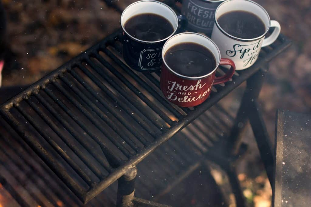 how to drink coffee black - camping