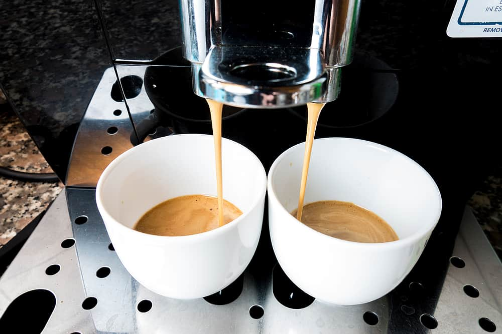 Espresso cups closeup: Best espresso machine super automatic