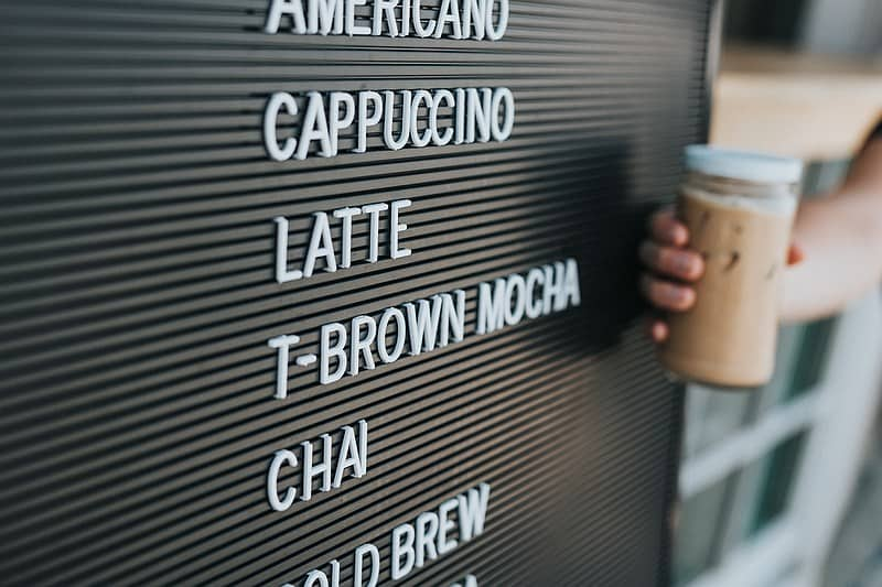 different coffee drinks to order