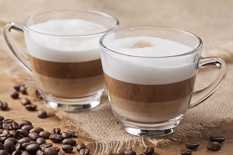 cappuccino cups glass