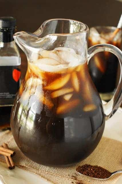 Maple Iced COffee with Instant Coffee