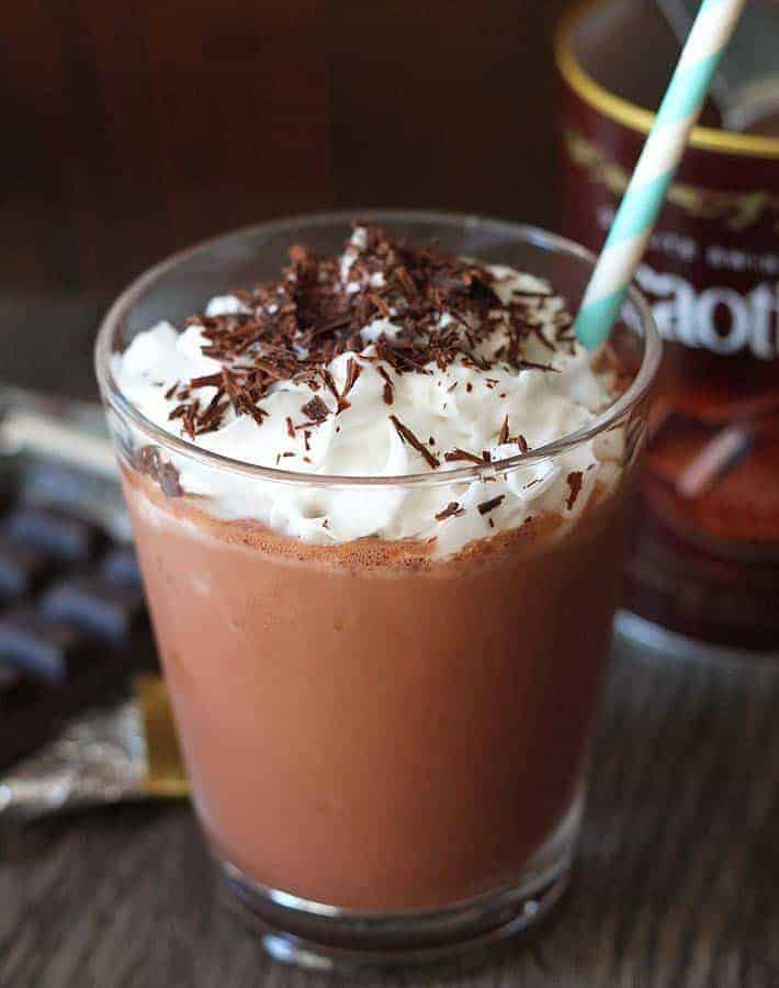 vegan iced coffee frappe