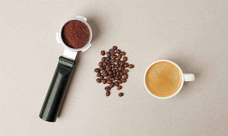 Portafilter and coffee cup - Espresso Brewing Coffee methods
