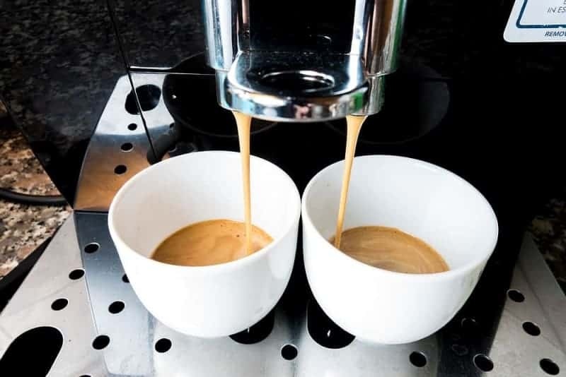 espresso shots in white cups