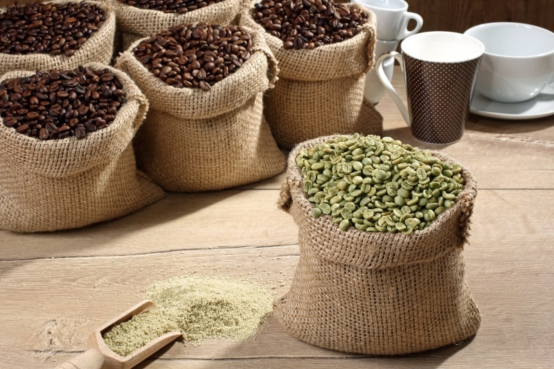 storing green coffee beans