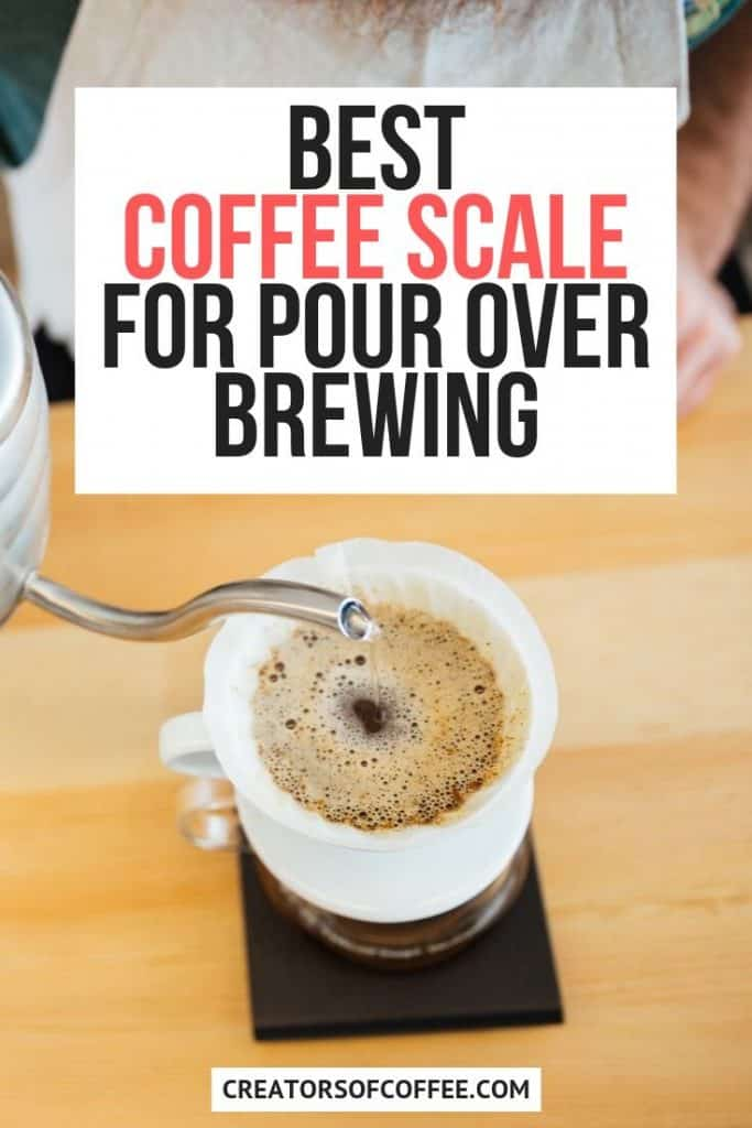 coffee filter on top of coffee scale - best coffee brewing scale