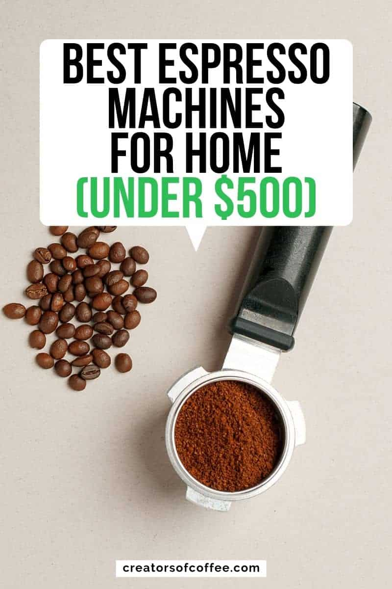 Portafilter with text overlay best espresso machines for home under 500