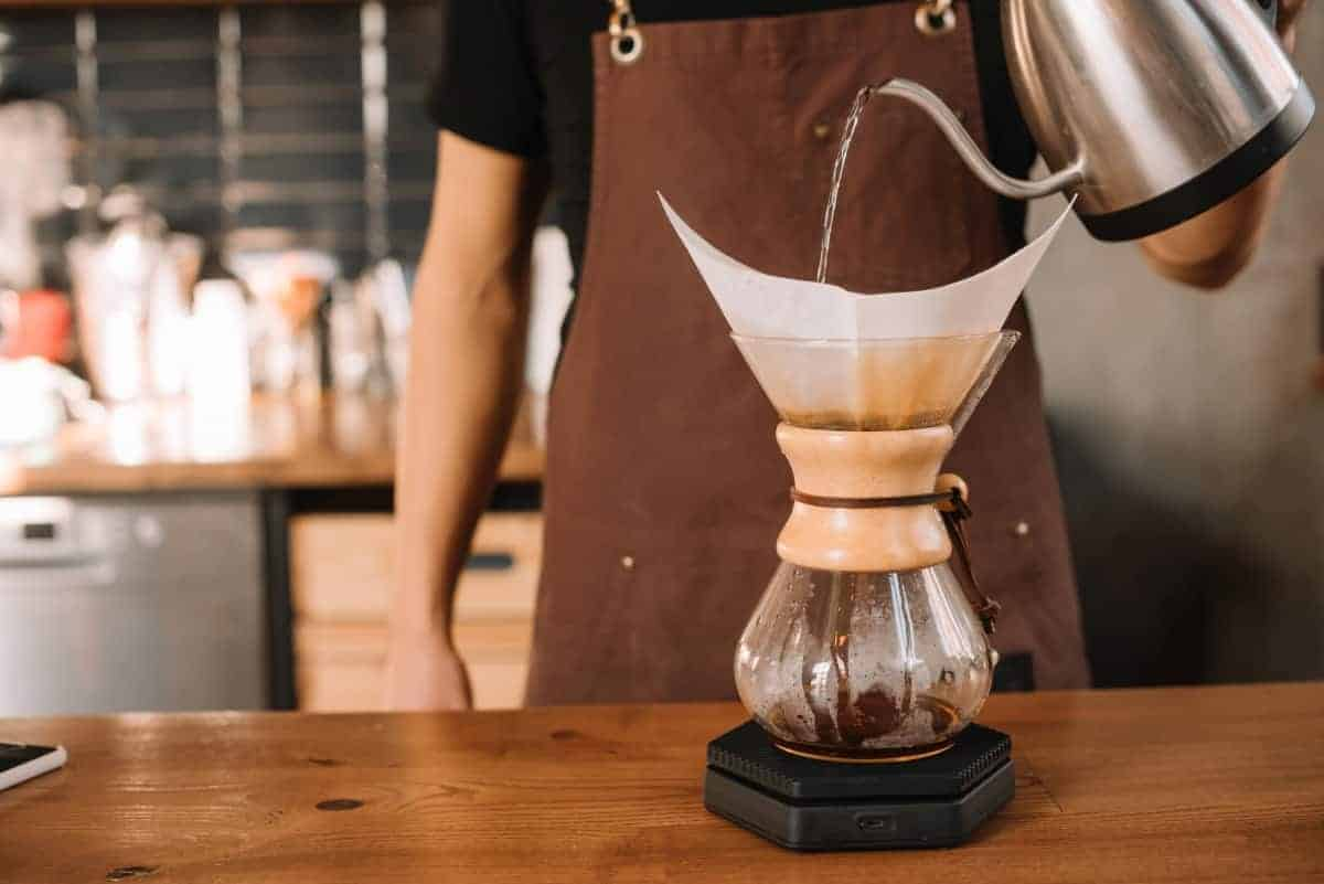 chemex with best electric gooseneck kettle for pour over