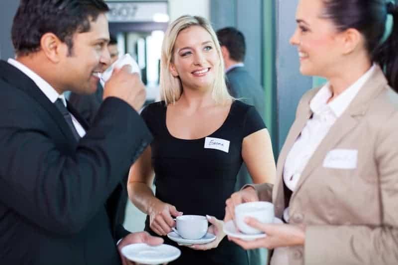 Corporate event coffee break