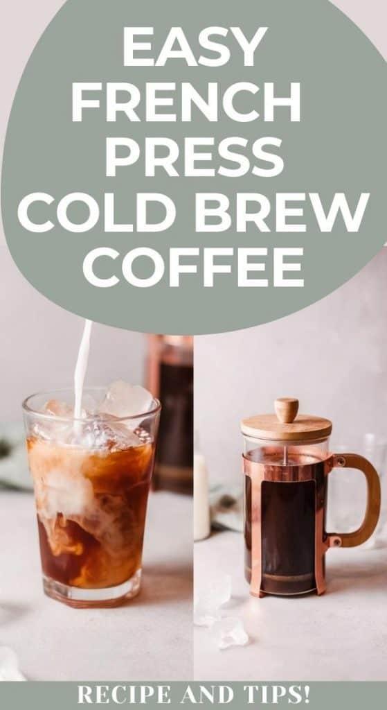 french press cold brew coffee recipe