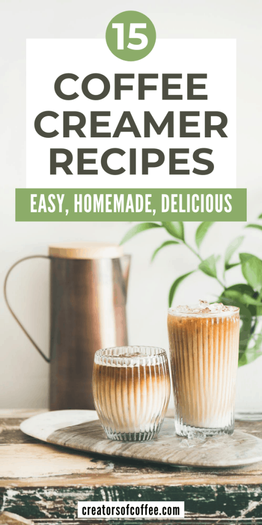 coffee creamers with text coffee creamer recipes