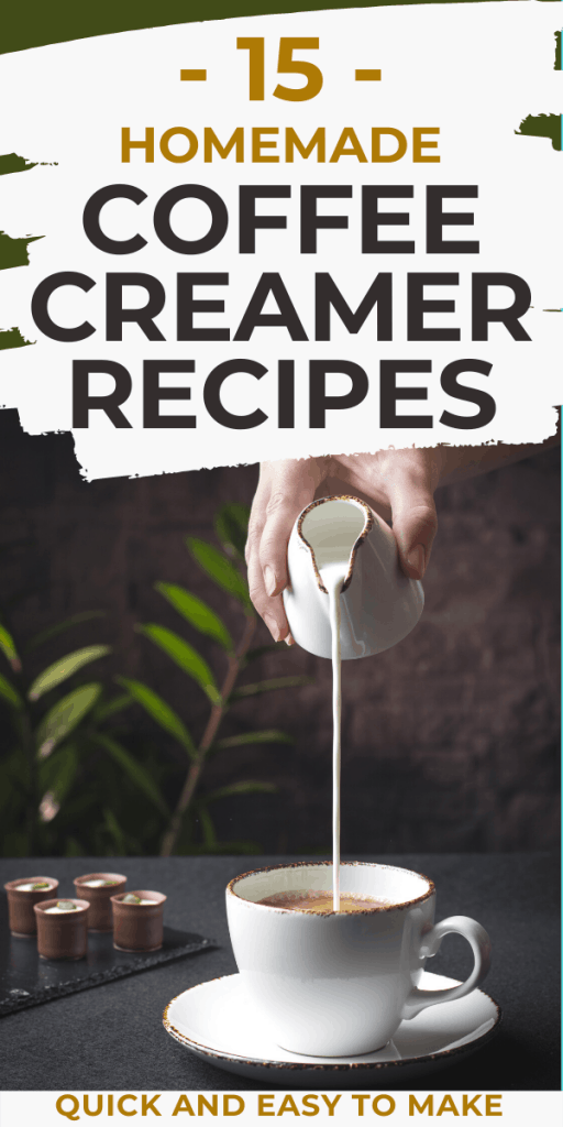 Easy homemade coffee creamers