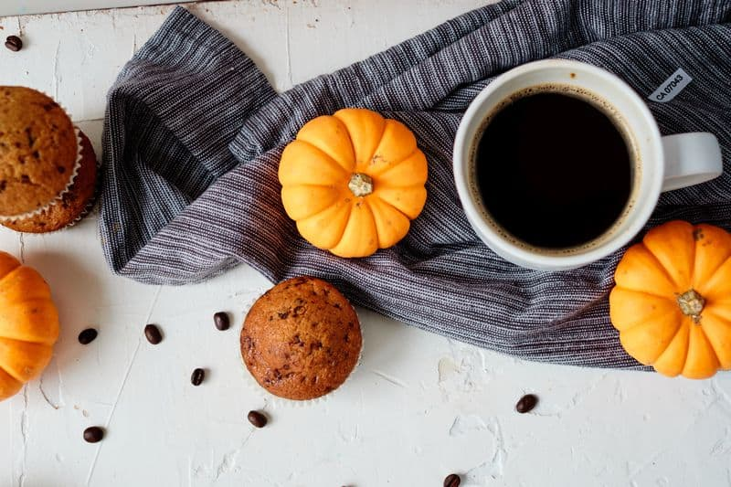 Pumpkin coffee muffins