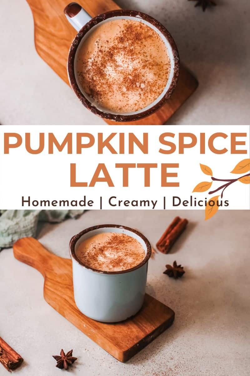 two images of pumpkin coffee with text overlay