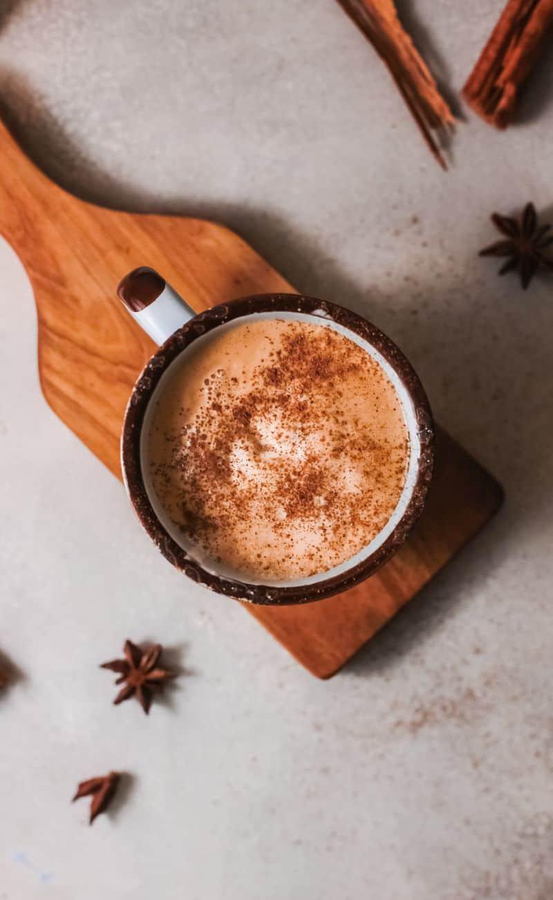 creamy pumpkin spiced latte