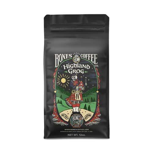 Bones Coffee Company - Highland Grog Flavored Coffee Beans