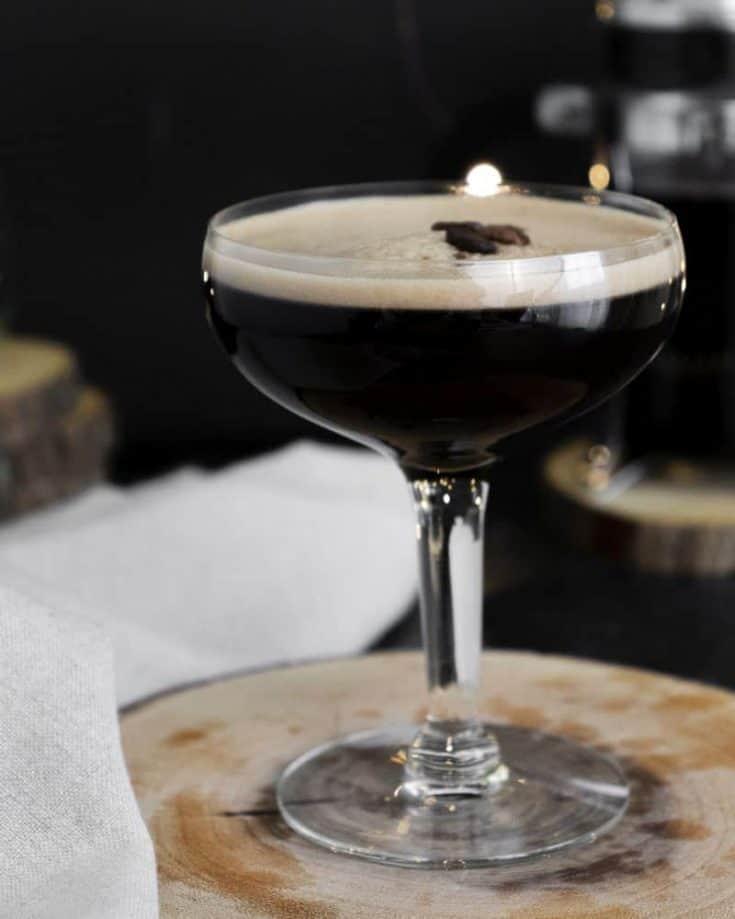 Hazelnut espresso vodka martini recipe