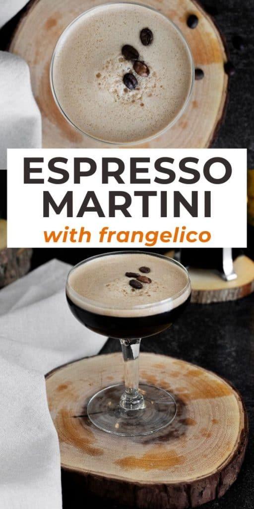 Creamy espresso martini frangelico