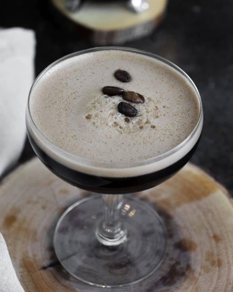 frangelico espresso martini - coffee cocktail