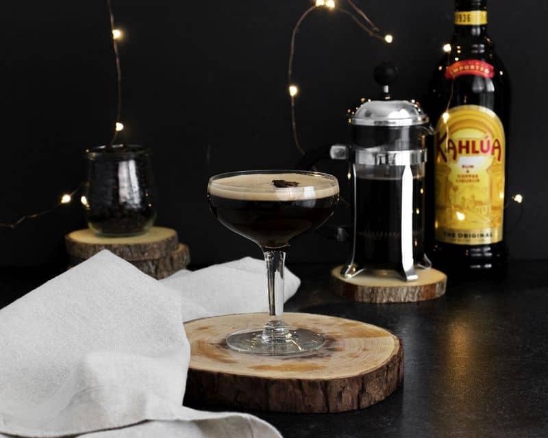 Espresso martini recipe with frangelico and kahlua