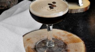 frangelico espresso martini in coupe glass