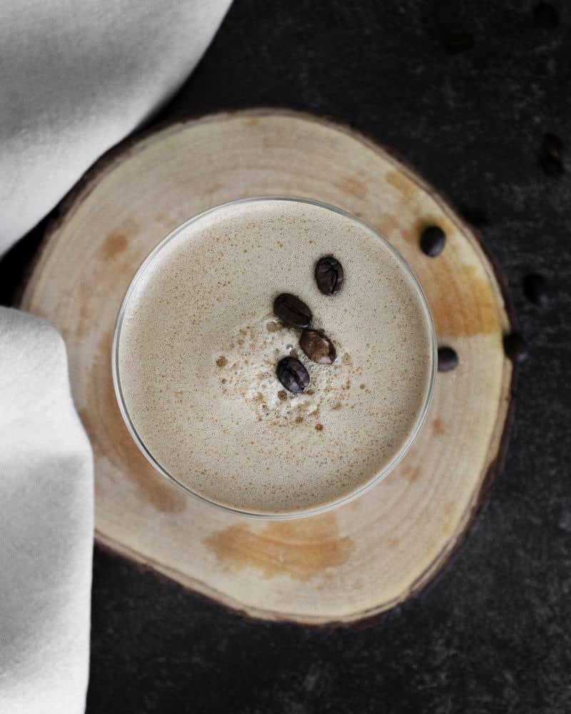 hazelnut martini frangelico top view