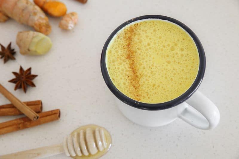 Turmeric milk made from turmeric