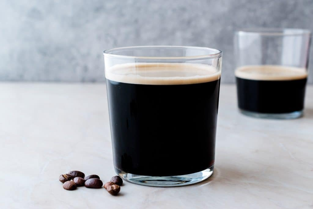 Frothy Cold Brew Nitro Coffee with Beans