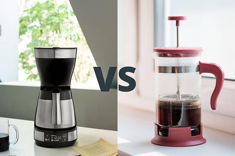 drip coffee maker vs french press coffee maker