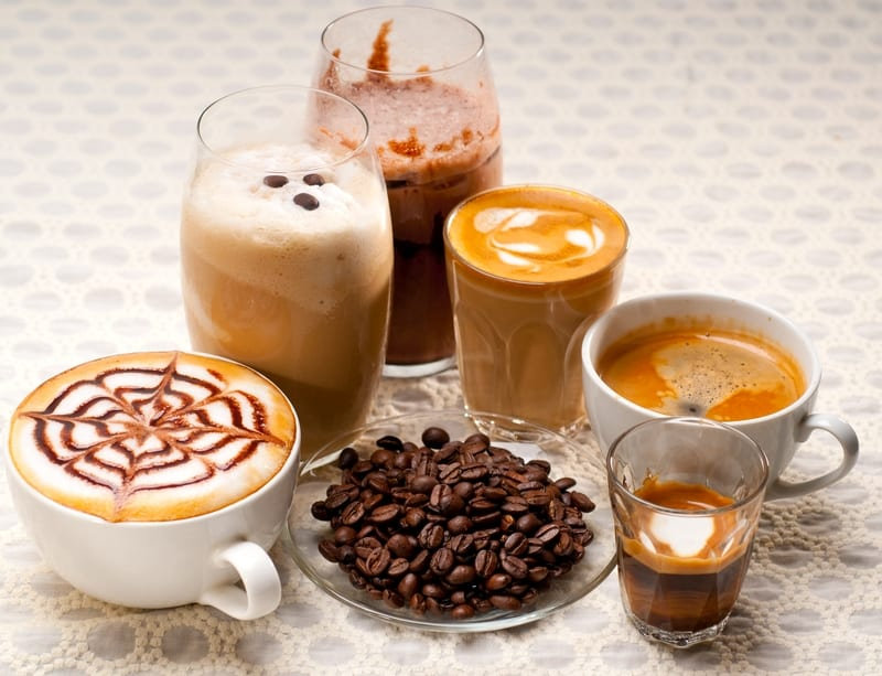 group selection of different coffee types