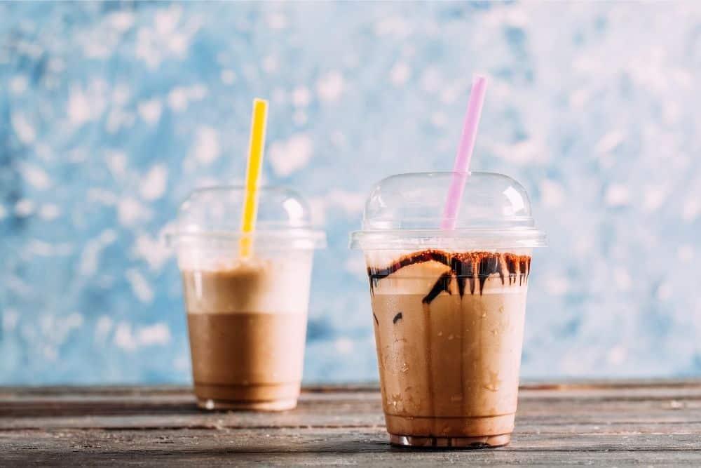 iced coffee drinks with chocolate
