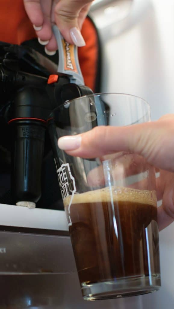 nitrogen tap system for cold brew coffee.
