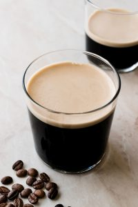 Frothy Cold Brew Nitro Coffee in glass.