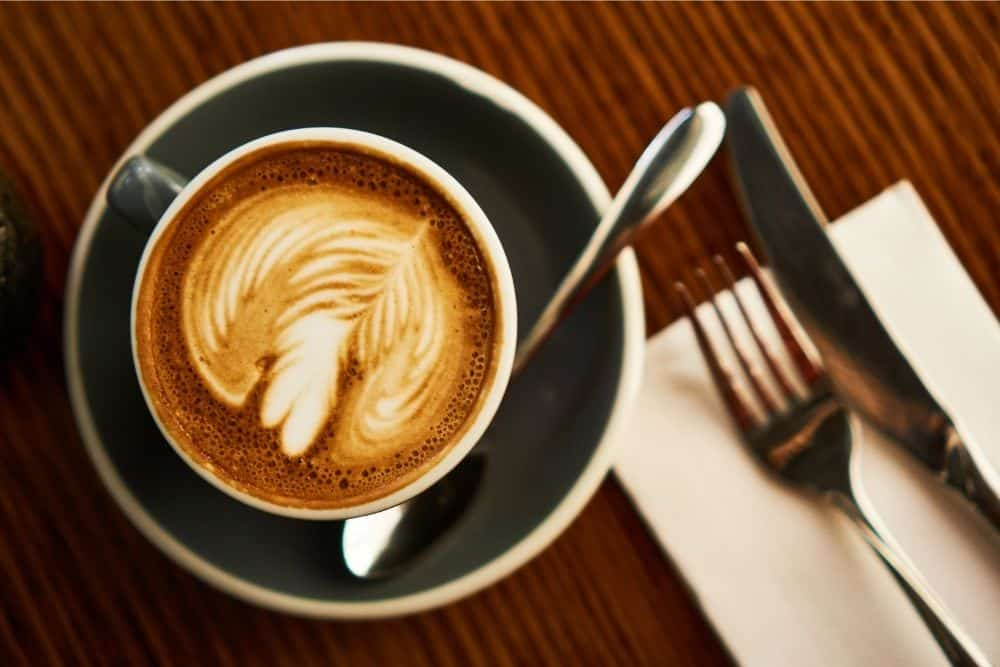 Flat white specialty coffee drink