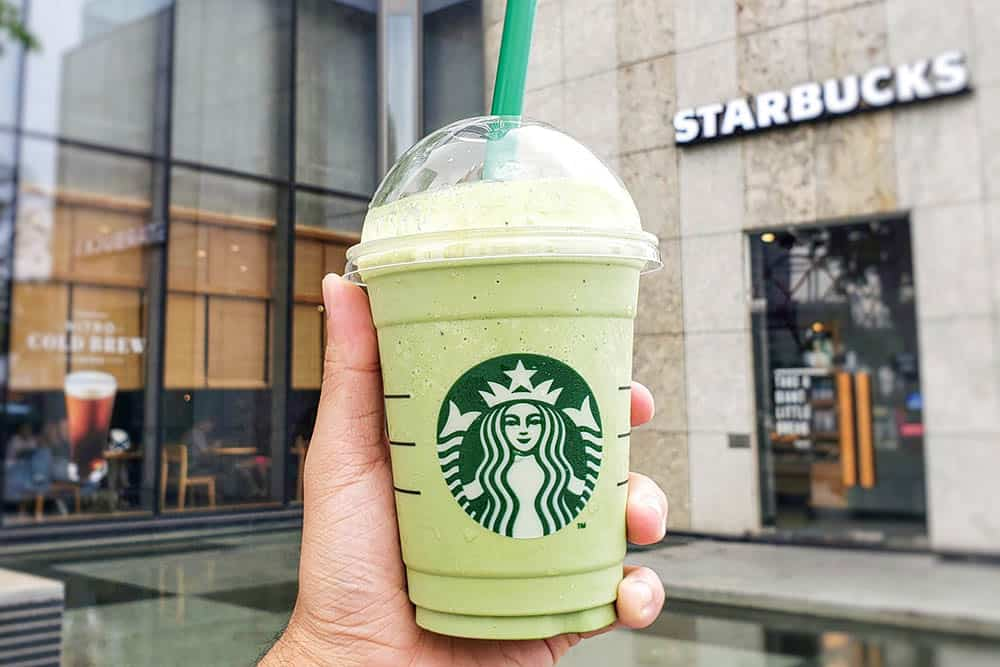 different frappuccino matcha from Starbucks