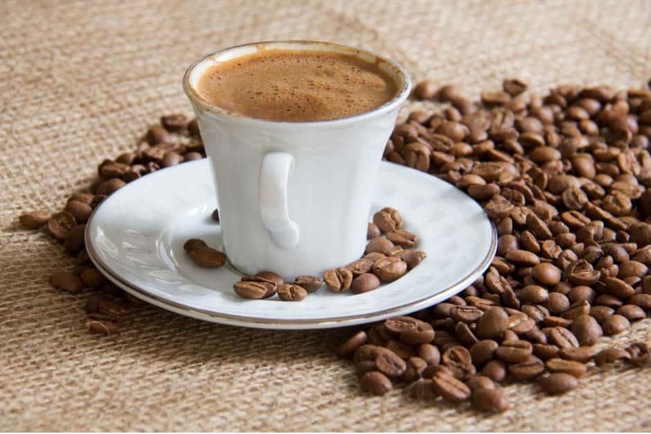 traditional cup of mocha coffee