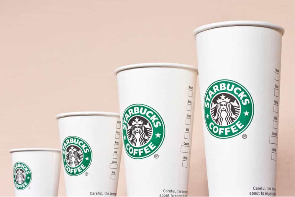 Starbucks cup sizes